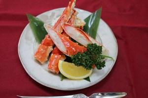 タラバ蟹陶板焼